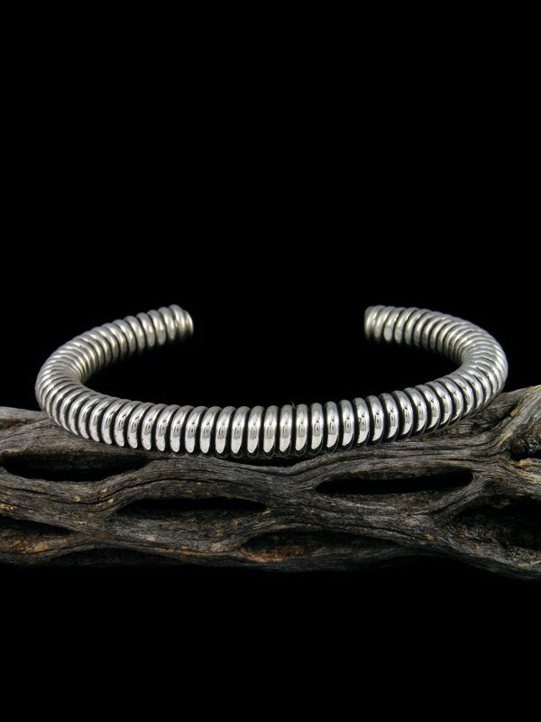 Navajo Sterling Silver Twisted Coil Bracelet