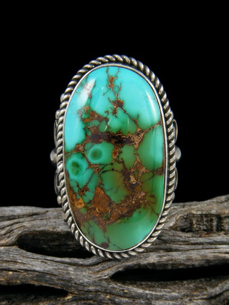 Natural Royston Turquoise Ring, Size 7.5