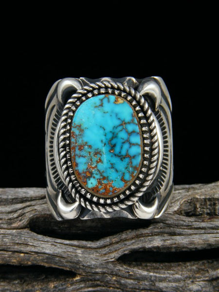 Pilot Mountain Turquoise Sterling Silver Ring, Size 12