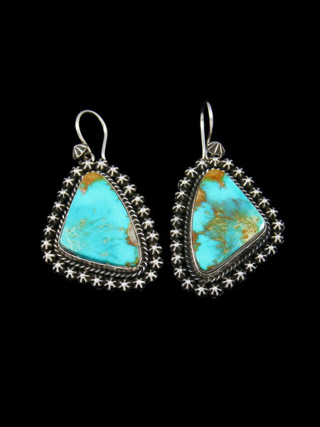 Royston Turquoise Navajo Dangle Earrings