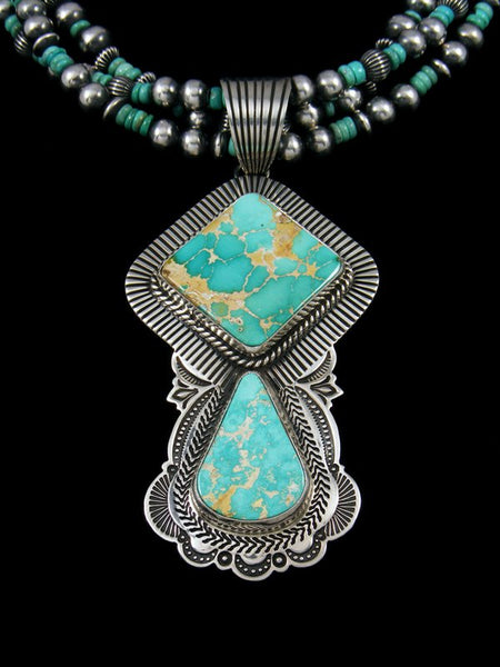 Native American Pilot Mountain Turquoise Beaded Necklace Set