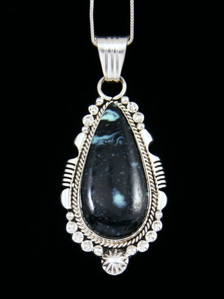 Native American Variscite Sterling Silver Pendant
