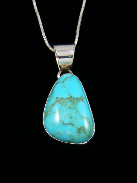 Turquoise Navajo Sterling Silver Pendant