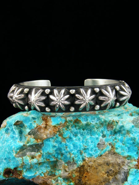 Native American Sterling Silver Star Burst Bracelet