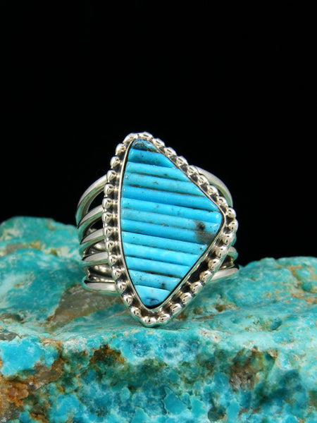 Turquoise Inlay Ring, Size7
