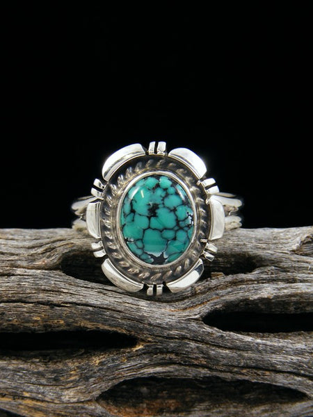 Cloud Mountain Turquoise Ring, Size 9