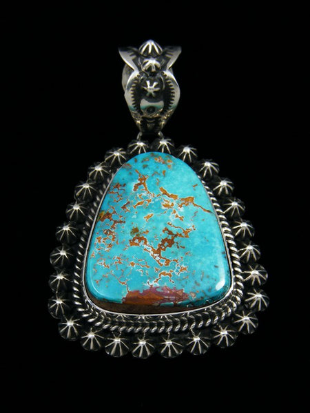 Native American Pilot Mountain Turquoise Pendant