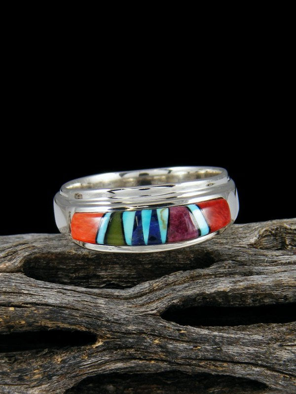 Multi Stone Inlay Ring, Size 9