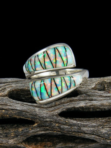 Adjustable Opal Inlay Ring