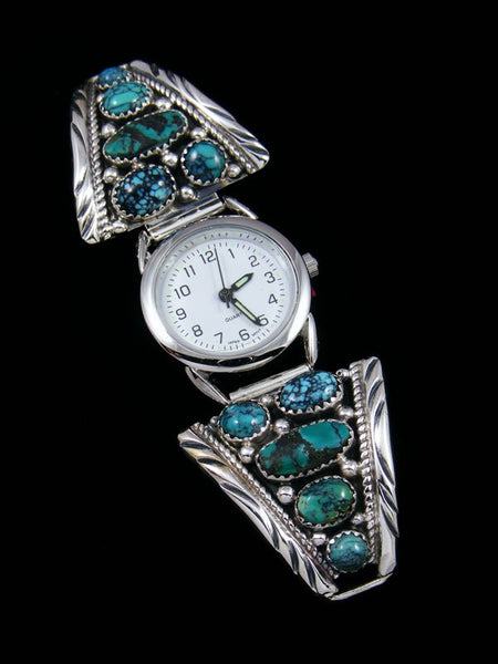 Native American Indian Jewelry Cloud Mountain Turquoise Womens Watch