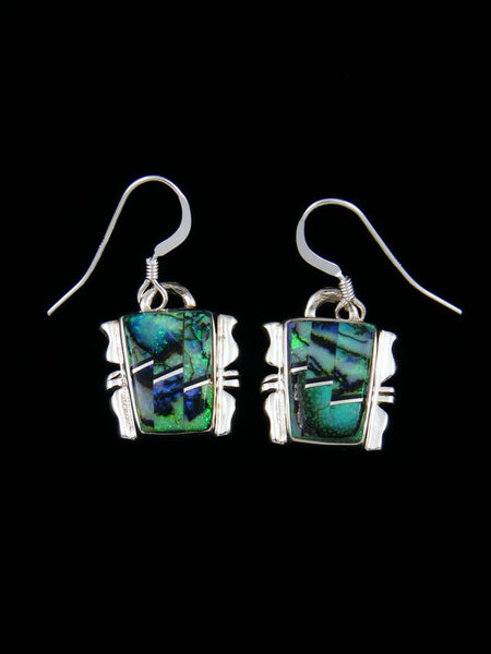 Navajo Monarch Opal Inlay Dangle Earrings
