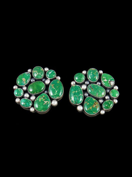 Sterling Silver Navajo Emerald Valley Turquoise Post Earrings