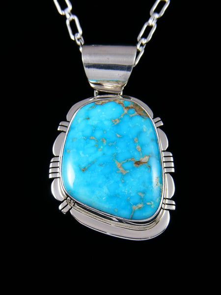 Blue Ridge Turquoise Navajo Sterling Silver Pendant