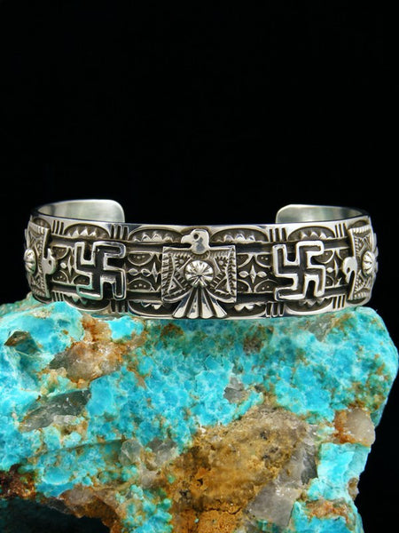 Native American Indian Jewelry Sterling Silver Thunderbird Bracelet