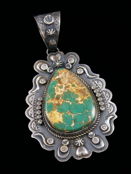 Native American Indian Jewelry Pilot Mountain Turquoise Pendant