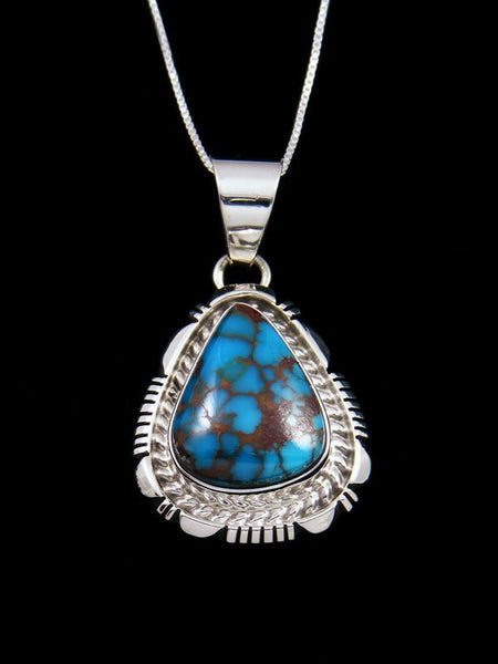 Native American Egyptian Prince Turquoise Sterling Silver Pendant