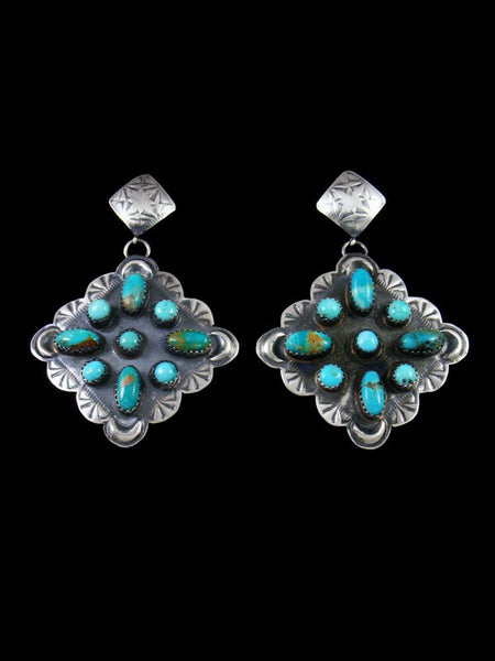 Sterling Silver Navajo Turquoise Post Earrings