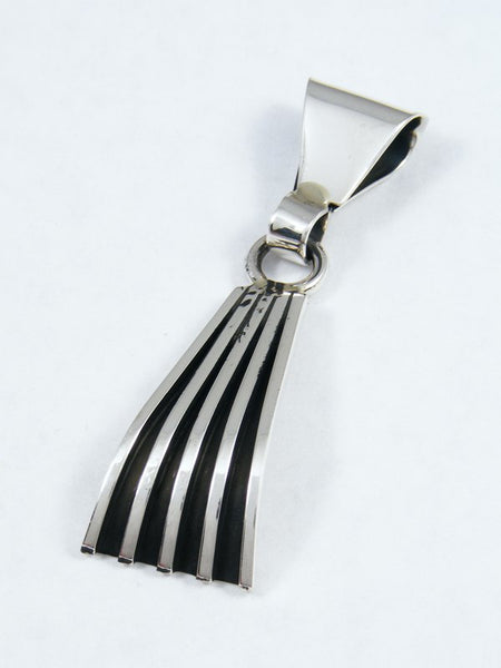 Navajo Sterling Silver Overlay Pendant