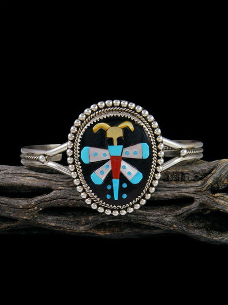 Native American Zuni Butterfly Inlay Cuff Bracelet