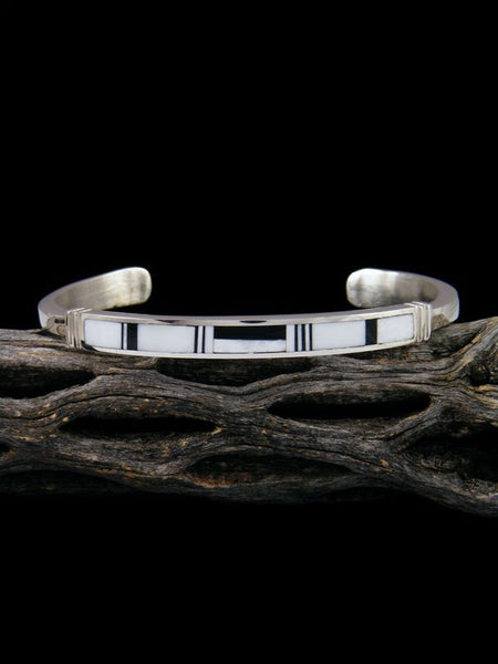 Native American Indian White Buffalo Inlay Bracelet