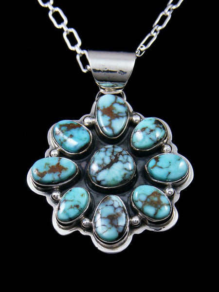 Native American Dry Creek Turquoise Cluster Pendant