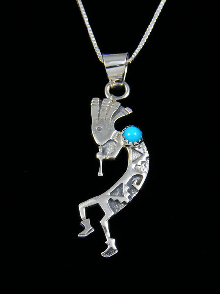 Navajo Necklace Turquoise Kokopelli Pendant