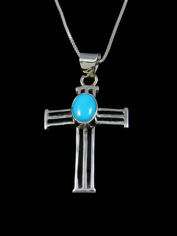 Navajo Necklace Turquoise Cross Pendant