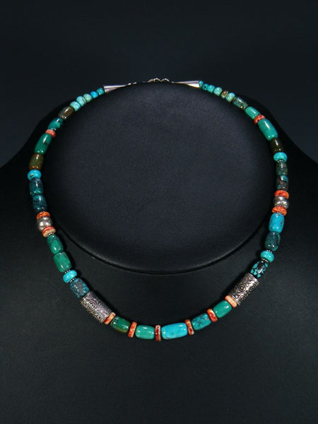 Native American Indian Jewelry Spiny Oyster and Turquoise Necklace