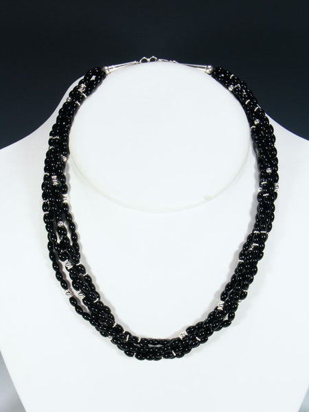 Black Onyx Multistrand Necklace