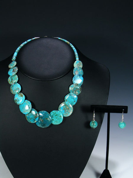 Native American Turquoise Disc Necklace