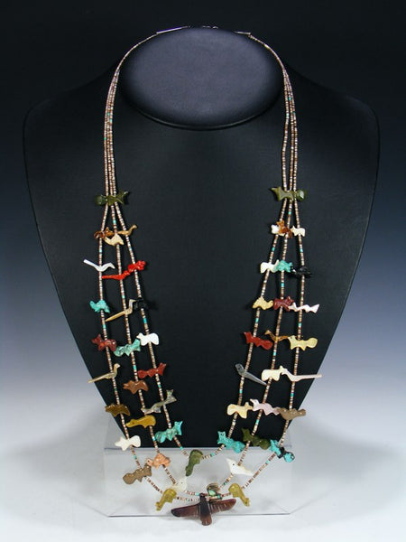 Estate Native American Jewelry Fetish Necklace