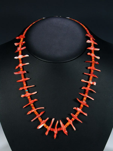 Estate Native American Jewelry Spiny Oyster Fetish Necklace