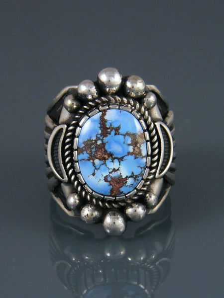 Natural Golden Hill Turquoise Ring, Size 11 3/4