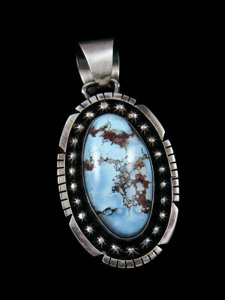 Sterling Silver Golden Hill Turquoise Navajo Pendant
