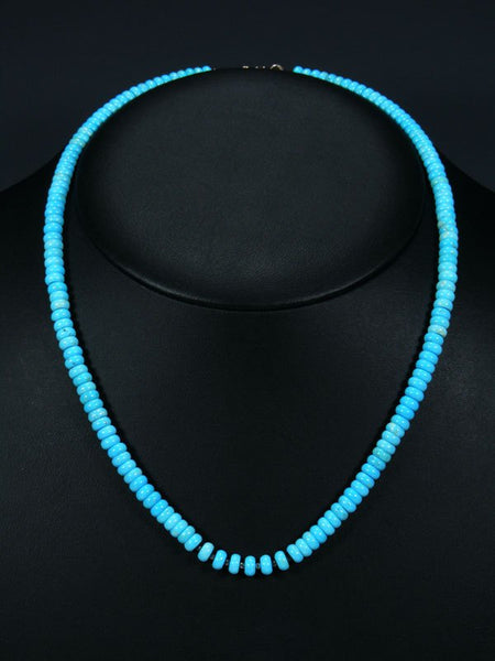 Native American Indian Jewelry Sleeping Beauty Turquoise Necklace