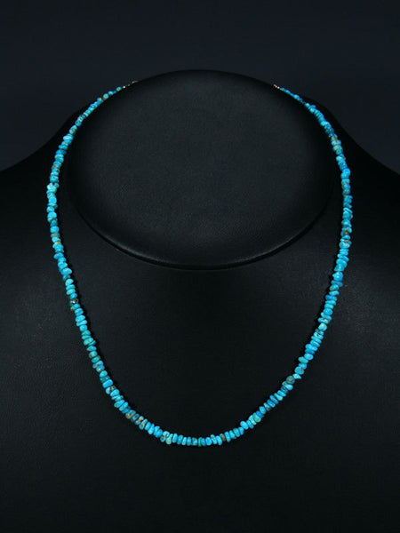 Navajo Turquoise singled Strand Beaded Necklace