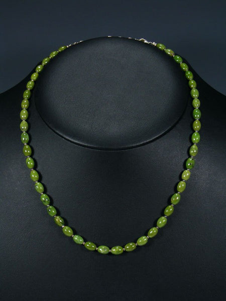 Native American Serpentine Beaded Single Strand Necklace