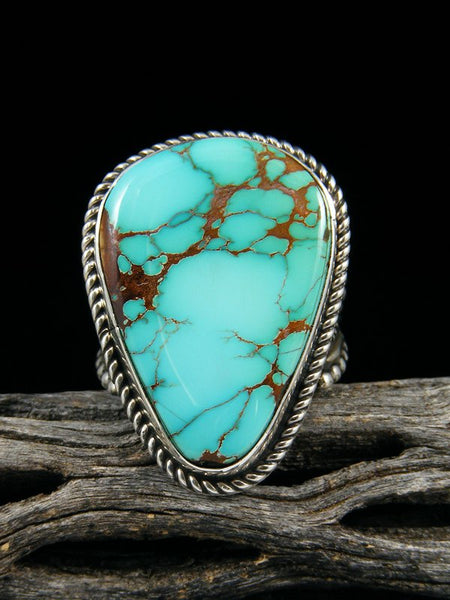 Natural Royston Sterling Silver Turquoise Ring, Size 8