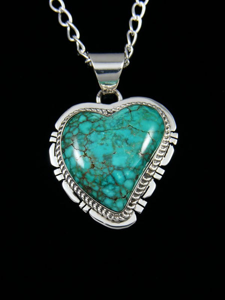 Native American Sierra Nevada Turquoise Heart Pendant