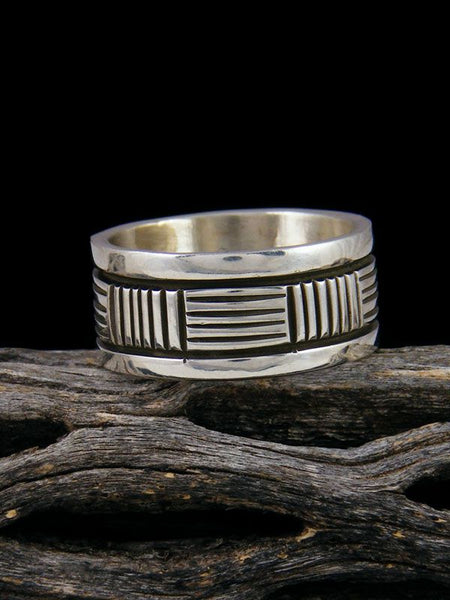 Navajo Sterling Silver Ring, Size 8 1/2