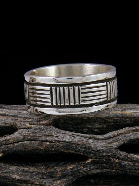 Navajo Sterling Silver Ring, Size 10 1/2