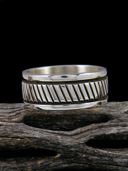 Navajo Sterling Silver Ring, Size 10