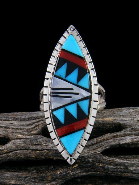 Multistone Zuni Inlay Ring, Size 7