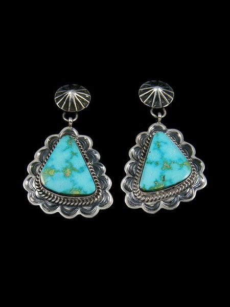 Natural Kingman Turquoise Navajo Post Earrings