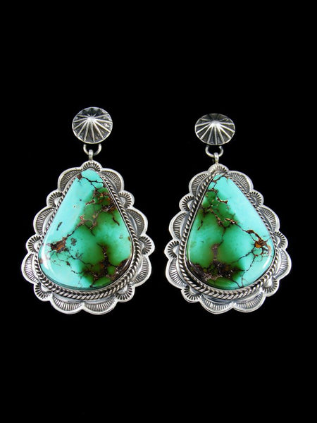 Natural Royston Turquoise Navajo Post Earrings