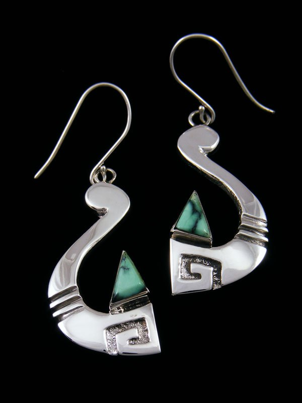 Sterling Silver Variscite Dangle Earrings