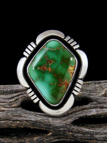 Natural Royston Turquoise Ring, Size 8