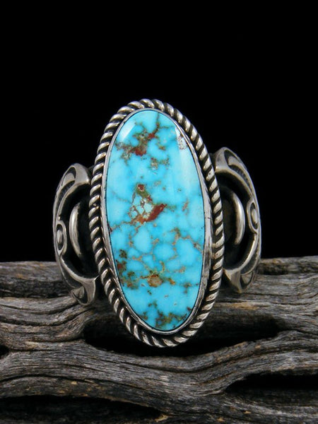Natural Kingman Turquoise Ring, Size 8 3/4