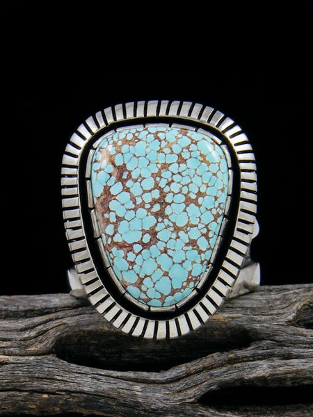 Number 8 Turquoise Ring, Size 8 1/2