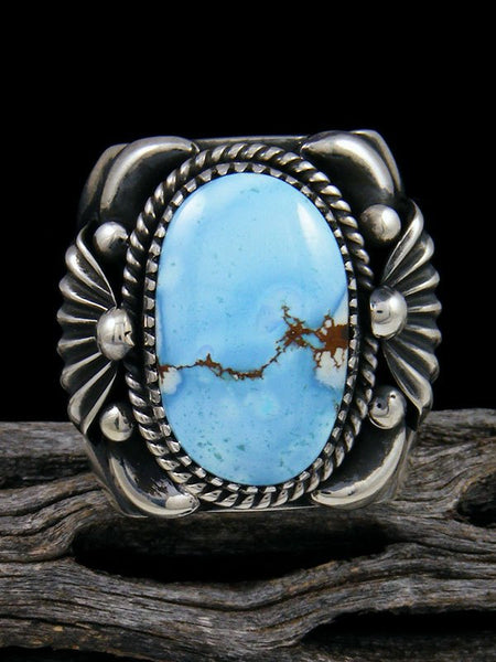 Golden Hill Turquoise Sterling Silver Ring Size 11